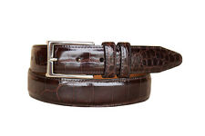 Lejon Men's Parkhill Handcrafted From Luxury Grain Leather Brown Belts 13352