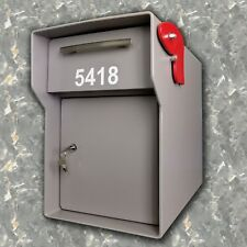 BIG High Security Locking Mailbox & Add a Steel Post and accesories. HEAVY DUTY