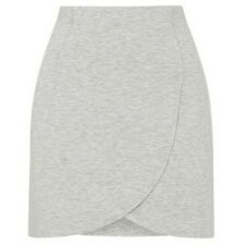 Topshop Grey Marl Double Curve Wrap-Over Skirt