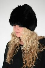 Surell Rabbit Fur Knitted Hat With Pom Style# 6492