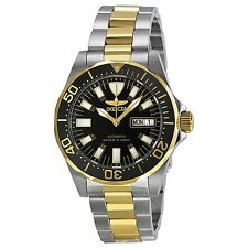 Invicta 7045 Mens Black Dial Analog Automatic Watch with Stainless Steel Strap