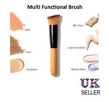 New Flat Angled Wooden Liquid Foundation Powder Contour Bronzer Makeup Brush UK
