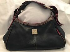 "Dooney & Bourke ""Hobo"" Black Leather Purse"