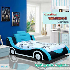 PU Kids Racing Car Bed Single Size Children Bedroom Furniture Kids Race