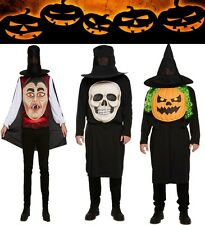 New Adult Vampire with Jumbo Face Halloween Costume Fancy Dress Outfit One Size