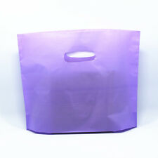 Purple Boutique Clothes Gift Packaging Bag Plastic Shopping Bags Carry Handle