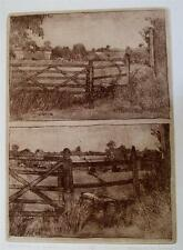 1978 Michael Carlo etching 13/45 'Approaching a Stile', 30cm x 42cm unframed