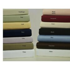 Luxurious Bedding 1qty Fitted Sheet Twin Size 1000TC Egyptian Cotton Selct Color