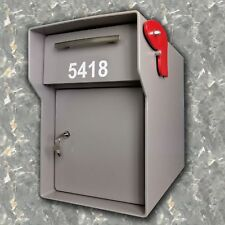 "High Security Locking Fort Knox 1/4"" Steel Locking Mailbox HEAVY DUTY Vacationer"