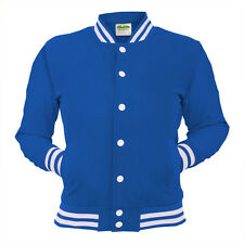 Royal Blue College Jacket Letterman Coat Baseball Top American Clothing Varsity