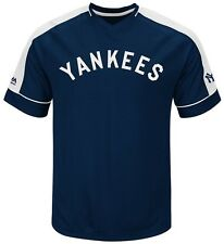 New York Yankees MLB Mens Cooperstown Vintage Hit Jersey Navy Big & Tall Sizes
