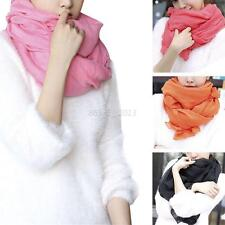 Fashion Women Cotton Linen Scarf Lady Girls Large Wrap Shawl Stole Scarves Q90