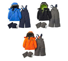 OshKosh Toddler Boys 4PC Ski Snowsuit Jacket Bib Hat Neck Warmer 12M 18M 24M NWT