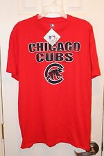 red Chicago Cubs distressed graphics t-shirt (NWT)