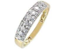 14K Yellow 4 mm Solid Gold 0.4 ct G-H SI Diamond Ring Wedding Band Stackable
