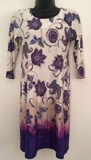 NEW Ex WALLIS Size 8-20 Purple Paisley Print Dipped Hem Tunic Shift Body Dress