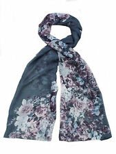 ladies 91294 grey scarf in 4 different patterns By unbranded