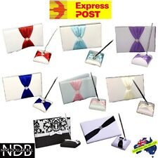 2 Piece Wedding Guest Book Set with Pen and Holder New EXPRESS