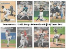1995 Topps Dimension III (D3) Baseball Team Sets ** Pick Your Team Set **