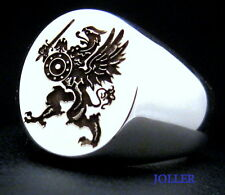 GRIFFIN WARRIOR SIGNET RING ENGRAVED STERLING SILVER 925 BY JOLLER