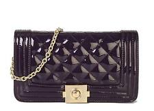 Diophy PU Patent Leather Quilted Stitching Womens Purse Handbag OB-2894