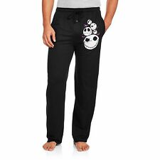 Mens Jack Skellington Sleep Lounge Pants Cotton Knit Disney S M L XL 2XL