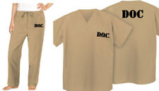 Tan PRISON INMATE COSTUME Khaki JAIL Suit Jail Uniform Halloween Costumes NEW!