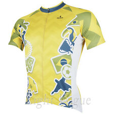 World Cup Men Short Sleeve Cycling Jersey Bicycle Bike Sportwear Rider D151e