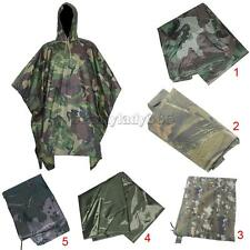 Outdoor Camouflage Waterproof Raincoat Hooded Hiking Fishing Hunting Coat Jacket