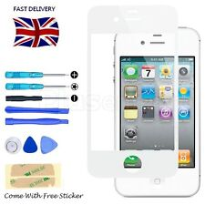 Front Screen Glass Lens Replacement White Tool Kit with Sticker for iPhone 4 4S