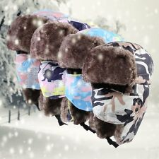Unisex Fashion Winter Earflap Russian Camo Hunting Trooper Trapper Bomber Hat