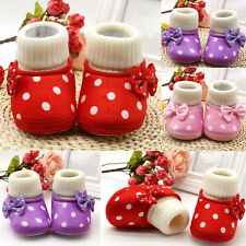 1 Pair Shoes Soft Sole Boots Warm Baby Cute Girl Charm Toddler Newborn Infant