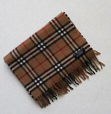 Genuine Burberry London Scarf Nova Check 100% Lambswool made in England