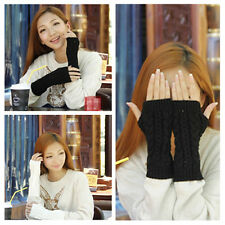 Gift Women Men Arm Warmer Long Fingerless Knit Mitten Winter Gloves Soft ST23