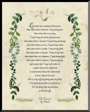 St. Francis Prayer Graphic Wall Plaque