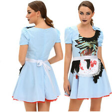 Women Zombie Kansas Girl Adult Halloween Costume Dress Role Play Stage Dance