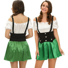 Women Shamrock Sweetie 2pcs Beer Girl Costume Dress Role Play Stage Dance Brief