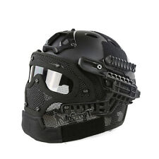 Tactical Military Combat Fast Helmet with Full Face Protective Mask and Goggles