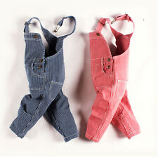 Boy Girl Stripe Suspender Bib Pants Trousers Overalls Outfits for Baby Kid 1-4T