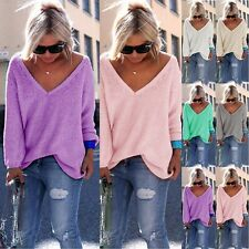 Fashion Womens Long Sleeve Loose Cardigan Knitted Sweater Jumper Knitwear Coat