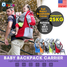 Baby Carrier Backpack w/ Stand Child Kid toddler Sun Shade Shield Raincover