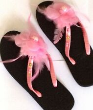 Pink flipflops petal design UK6 UK8 US8 US10  EU39, EU42