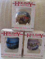 NEW HOLLAND TRACTOR FARM CHRISTMAS TREE ORNAMENT COLLECTOR SERIES 2001 2002 2004