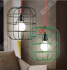 Vintage Industrial Colorful Cage Ceiling Lamp Pendant Light Home Cafe Decor Oa
