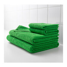 IKEA FRAJEN 100 % Cotton Towels Assorted Sizes Green Color Free shipping.