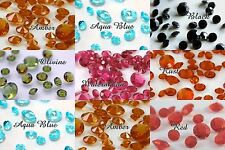7mm-1 Carat Diamond Confetti-LOTS OF COLORS-Table Scatter Wedding Decor-6.5mm+