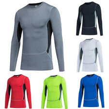 Men Sports Underwear Compression Base Layer Tops Pro Long Sleeve Athletic Shirts