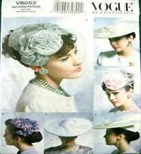 Vogue Sewing Pattern 8052 Vintage Retro Ladies Hat Hats Fasinator Millinery