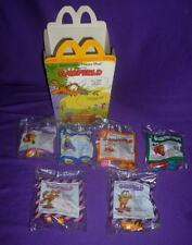 Vintage 1988 McDonalds Happy Meal GARFIELD Toys Set of 4 + 2 UNDER 3 + BOX