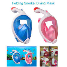 Folding Style Full Face Snorkel Diving Mask Swimming Goggles For Gopro Hero 4 3